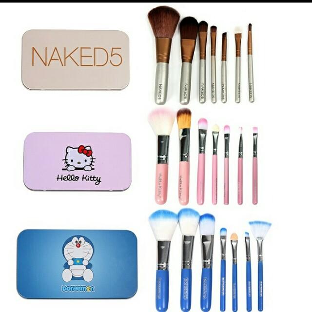 3e07a8bd7 Pre-order Naked Brush Set Hello Kitty Brush Set Doraemon Brush Set, Health  & Beauty, Makeup on Carousell