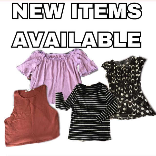 NEW ITEMS AVAILABLE!!!!