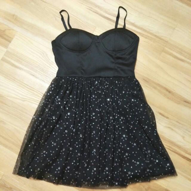 ❤ Nichii Black Tutu Glitter Dress