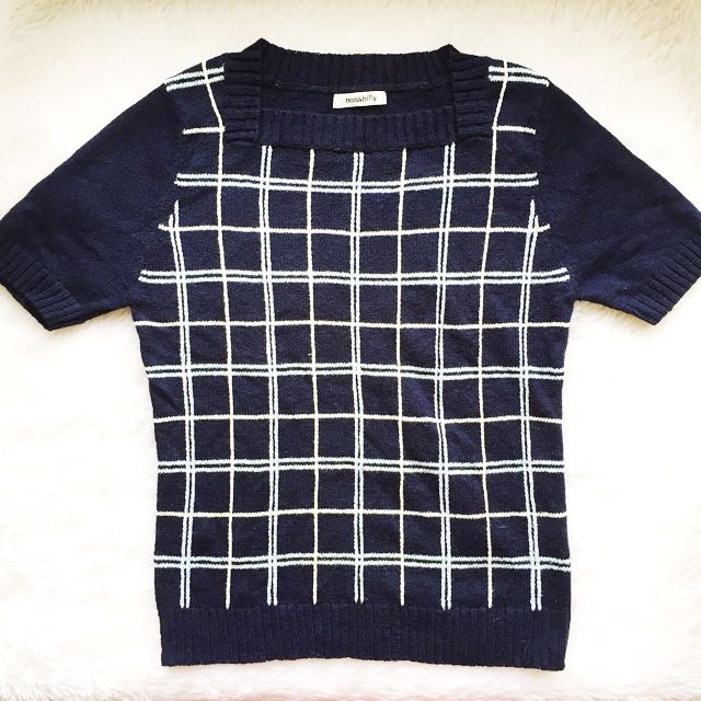 non&billy preppy knit top