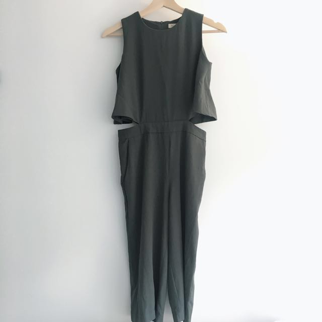 NyLa Navy Green Overall Pants