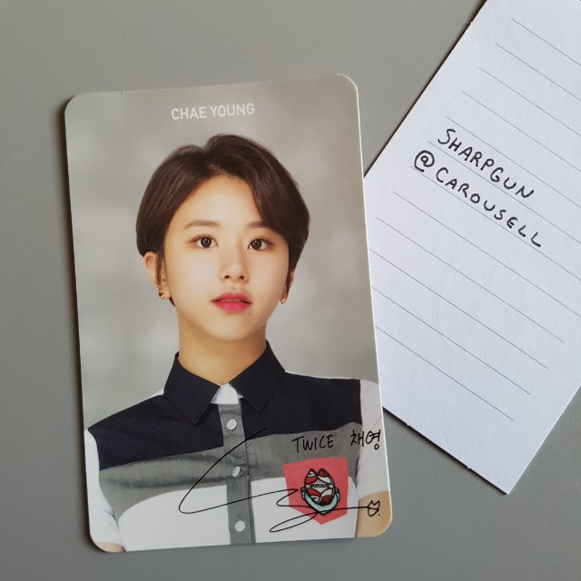 official chaeyoung  (twice) school looks photocard 💎 kpop 💎