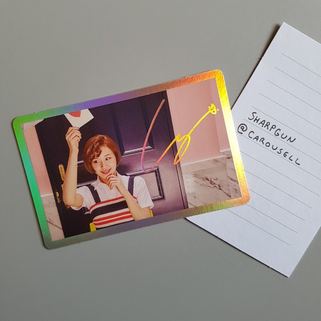 official twice (chaeyoung) signal photocard 💎 kpop 💎