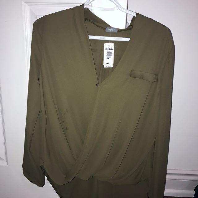 Olive Green Dressy Top