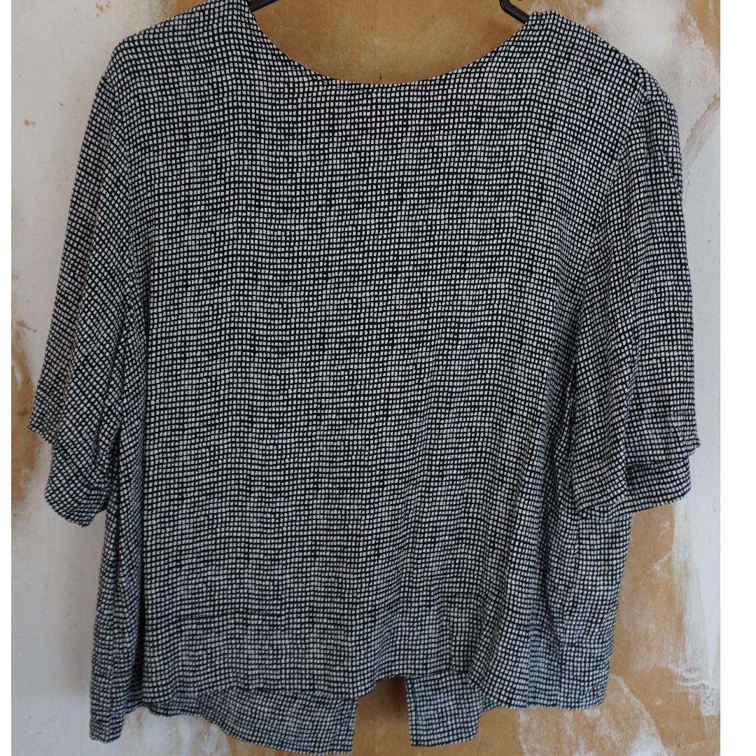 Open Back Check Top from Glassons, Size 8