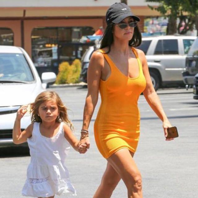 Orange Dress *As Seen On Kourtney Kardashian