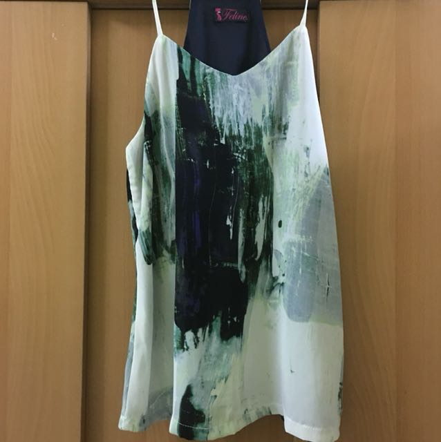 Paint Printed Halter Top from Let's Stylize