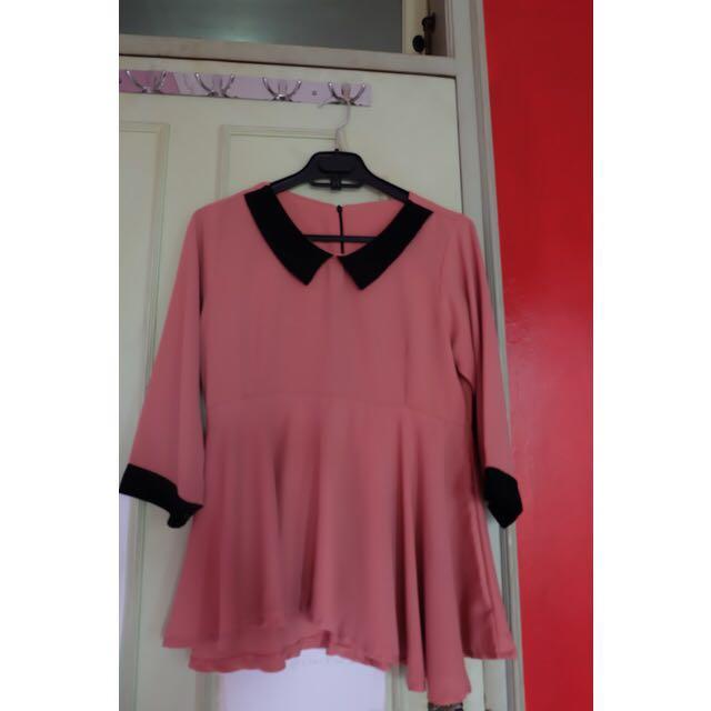 Peplum Blouse Pink