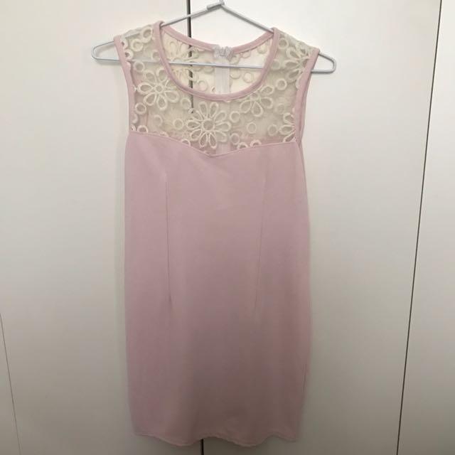 Pink dress Sze xs