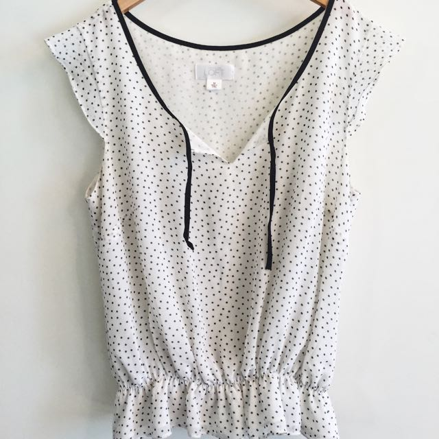 Polka Dot Top - Ann Taylor