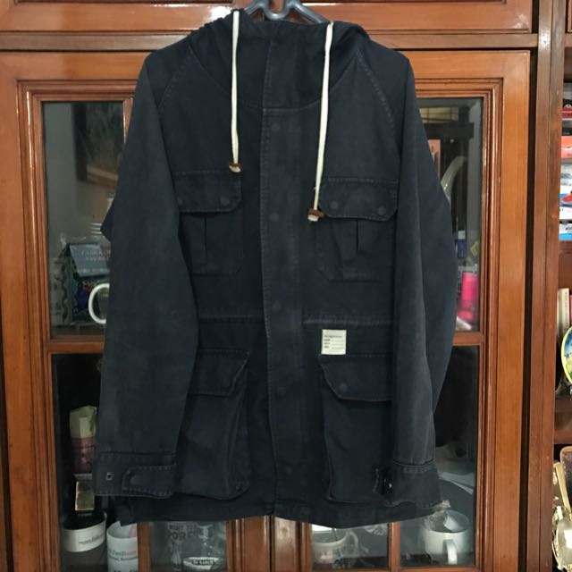 Pot Meets Pop (PMP) Navy Blue Parka Size Medium