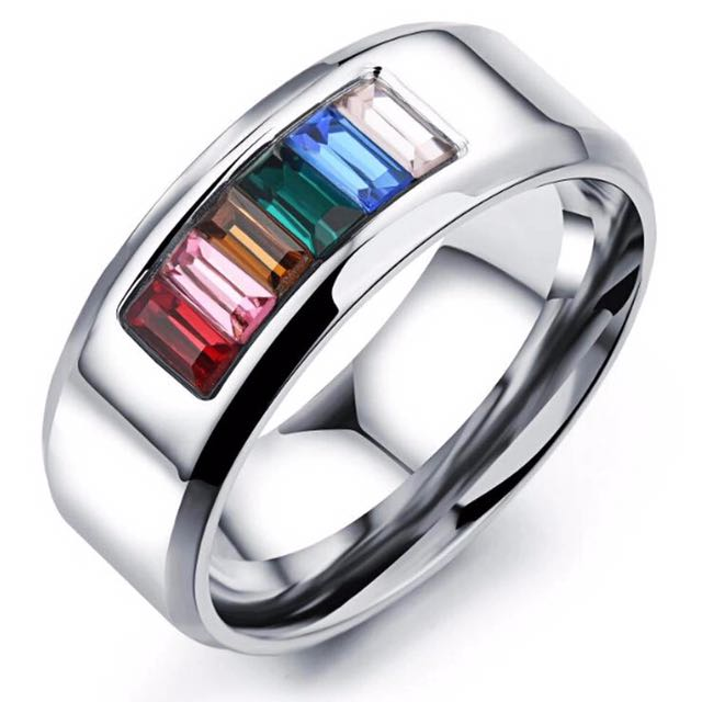 Pride Wedding Ring Lgbt Jewelry Men S Fashion Accessories On Carousell
