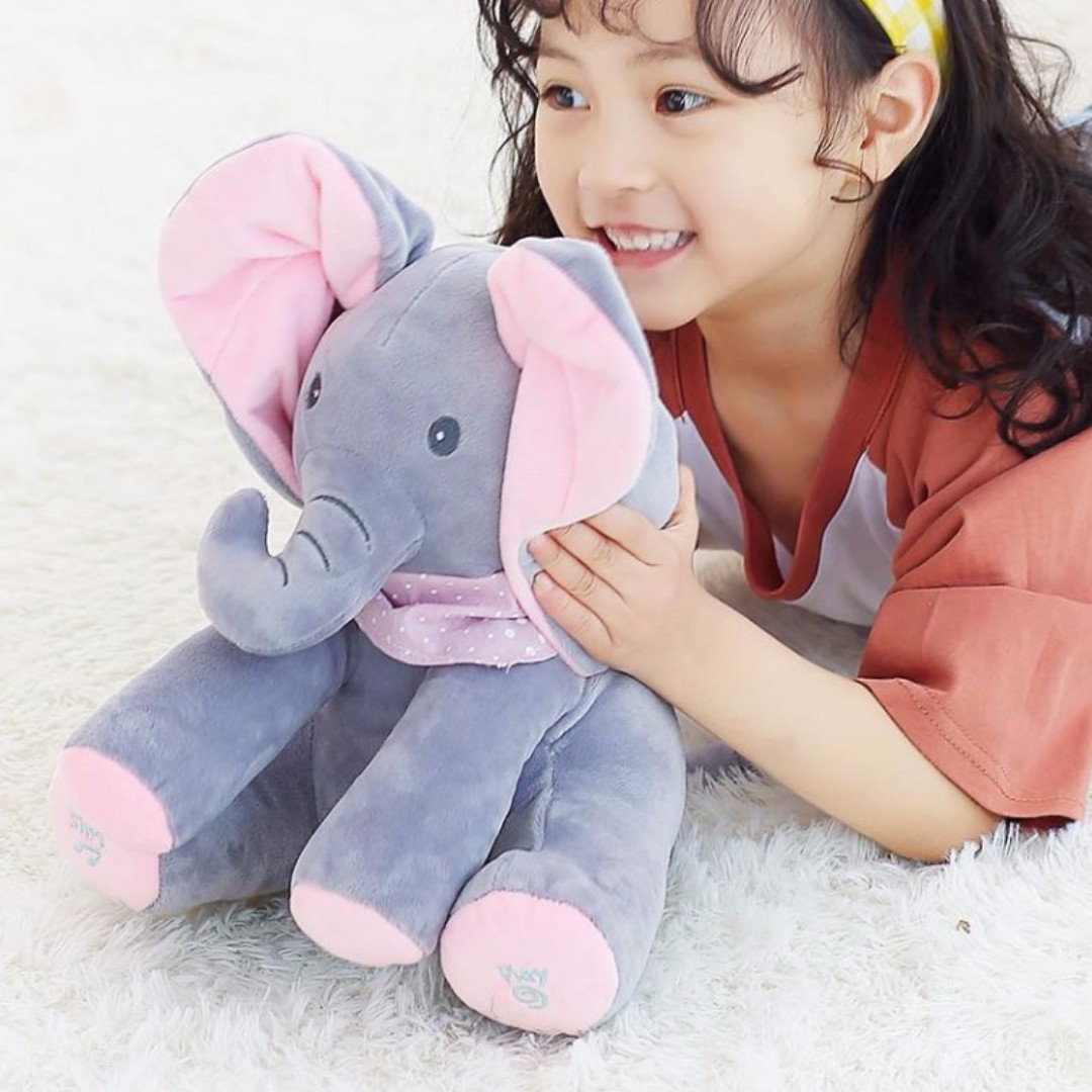 Sales New In Town Cute Peek A Boo Singing Elephant Play Hide N