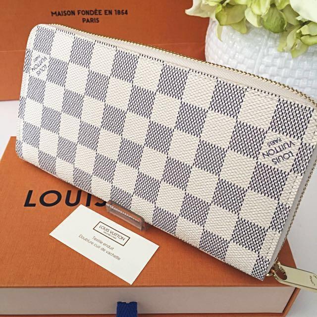 678638aaab64 ⚡️SALE⚡️BNIB AUTHENTIC LOUIS VUITTON TRANSATLANTIC LIMITED EDITION - LV  Zippy Damier Azur Wallet