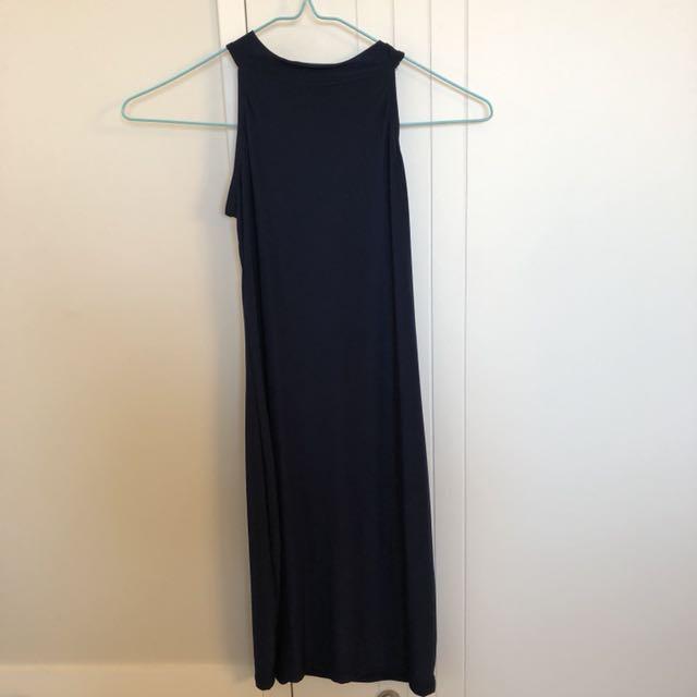 Silky Semi Halter Dress