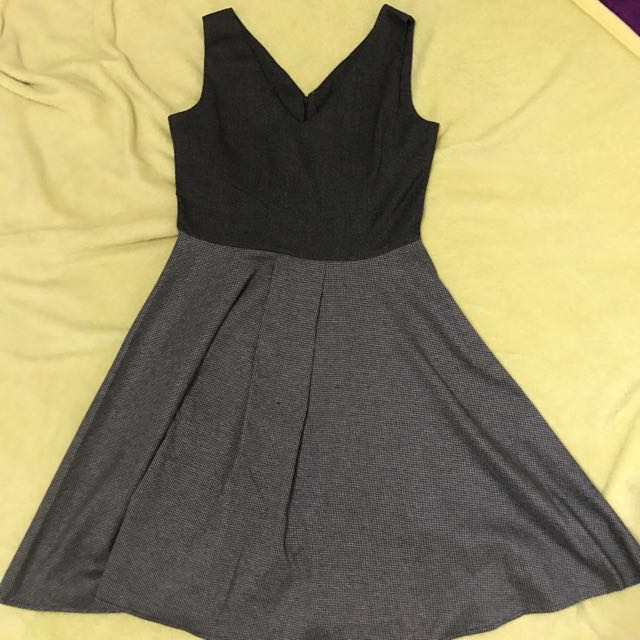 Sleeveless Gray Dress