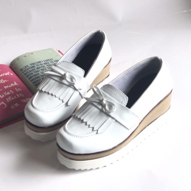 Sneakers Wedges Boots Putih Piu - Wedges Putih Pita Murah - Sepatu Wanita Rumbay Pita - Sepatu Wanita Miu Kerja - Wedges Stella Replika Main - Sepatu Kantor ...