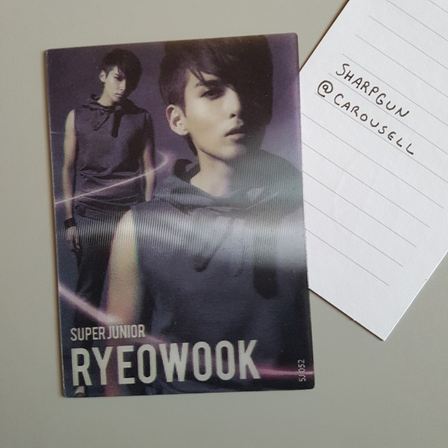 super junior ryeowook lenticular (rare) star card 💎 kpop 💎