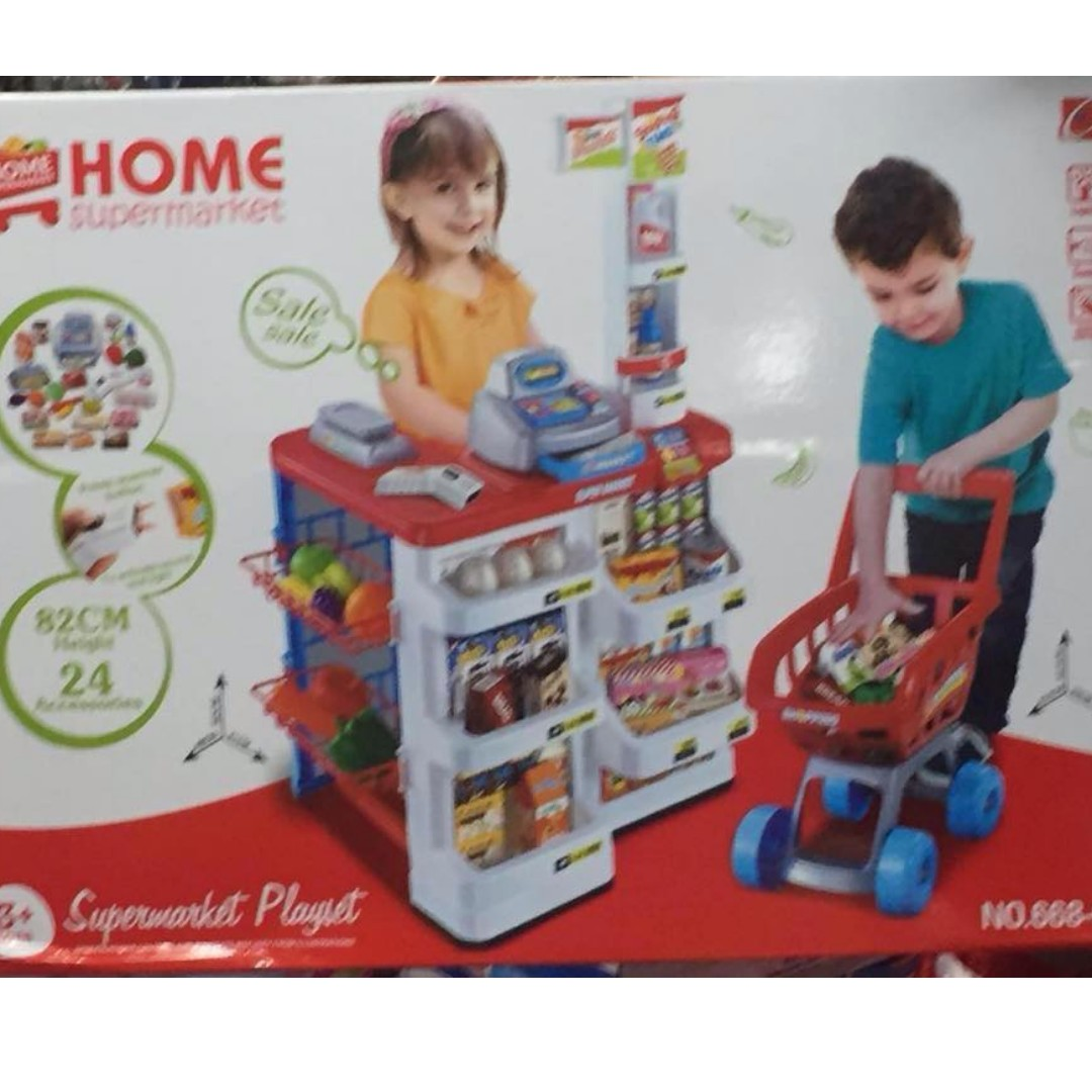 Supermarket and kitchen toy set babies kids toys walkers on carousell