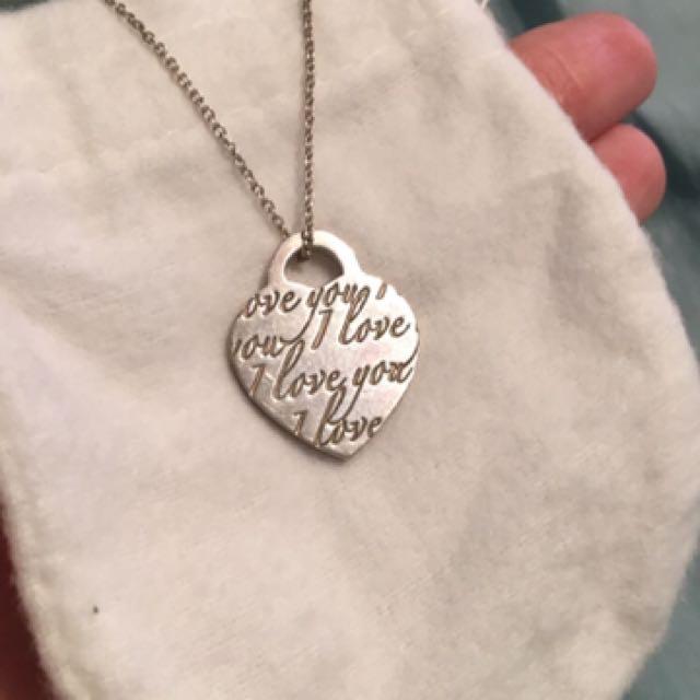 "Tiffany necklace ""I Love You"""