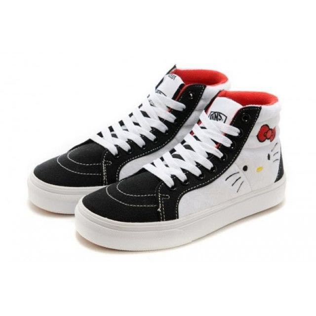 cf353a20de X Kitty On Sk8 FashionShoes Vans Hello Carousell HighWomen s DYEWH29I