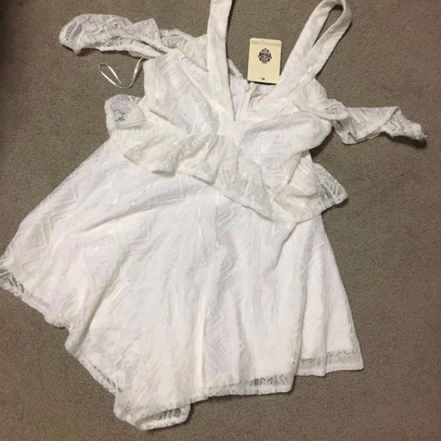 White lace playsuit BNWT