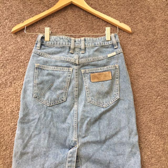Wrangler pencil denim skirt