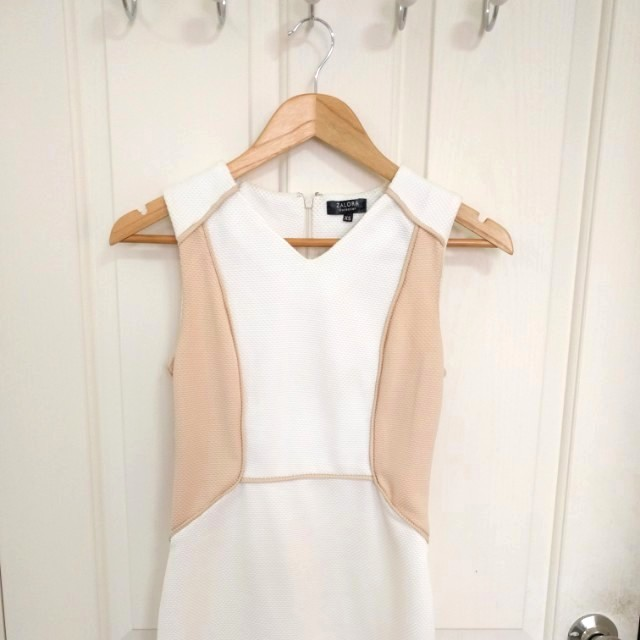 ZALORA White Peach Bodycon Dress - Size XS