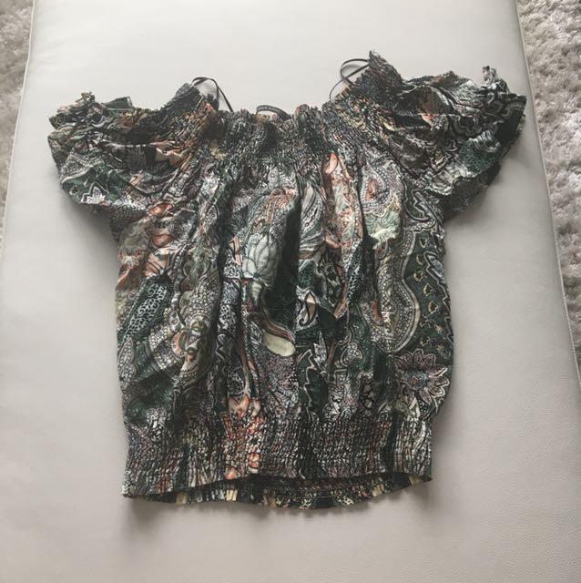 Zara Basic Patterned Blouse