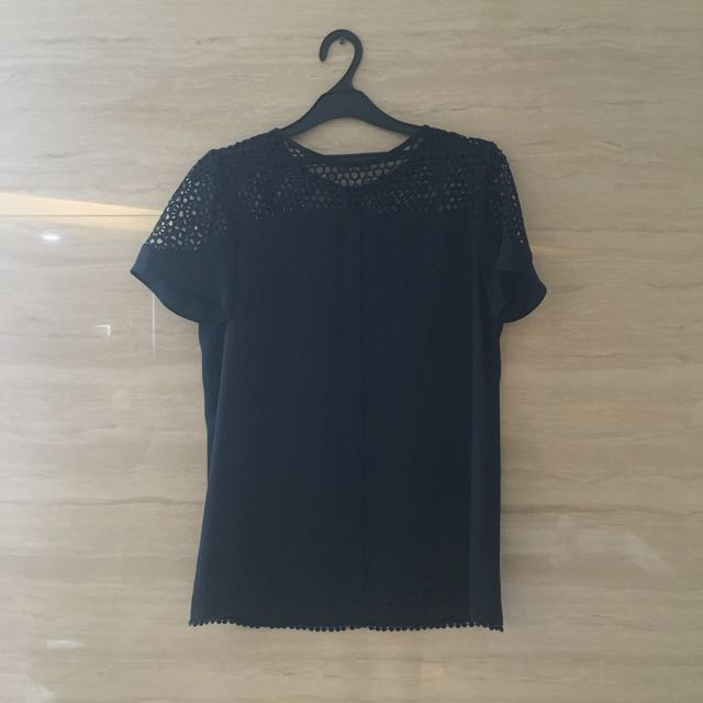 Zara Basic Top With Mesh