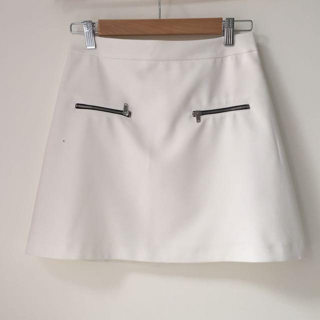 Zara Basic White Skirt