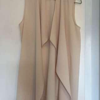 Suzy Shier Flowy Trench Vest