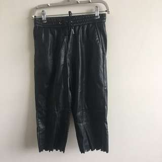 Capri leather joggers