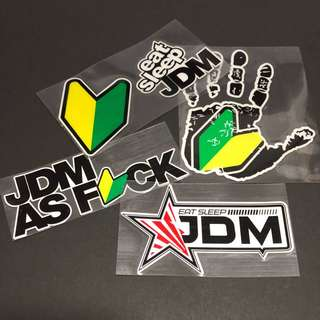 Stickers WaterProof High Quality - JDM Decals for Car and Bikes.