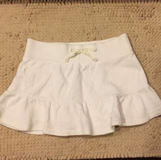 二手Ralph Lauren 女童米白色短絨褲裙