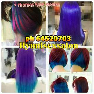💁💖PROMOTION (5 in 1 )⭐Cut+Coloring+Treament +Wash+Blow
