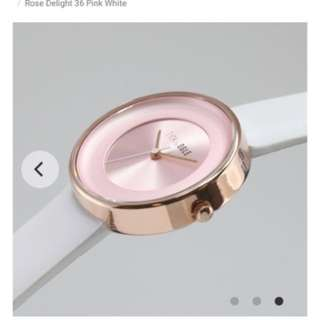 Tick & Ogle Rose Delight Leather Pink White Ladies Watch