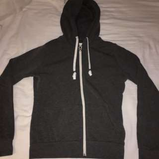 Ardene grey zip up hoodie