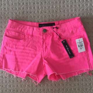 Hot pink jean shorts $5