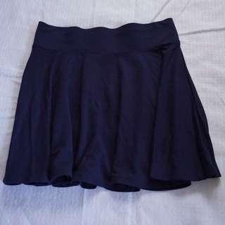 6ixty 8ight Skater Skirt in Navy Purple