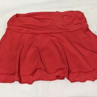 double ruffled skirt