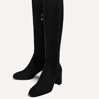 Zara Over The Knee High Boots
