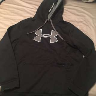 Under Armour Black Hoodie Sweater Size XL
