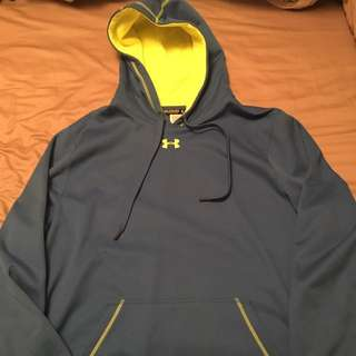 Under Armour Hoodie Sweater Blue Size XXL