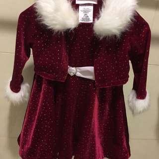 12m女寶派對公主裝 外套跟洋裝是分開的,近全新無污