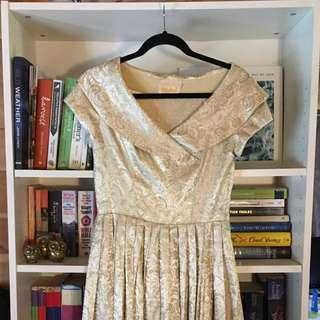 Stunning Gold Vintage/50s/60s Formal Dress