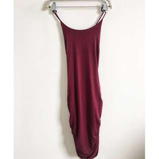 Red Wine Sexy Back Dress