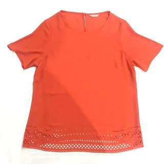 M&S Orange Blouse