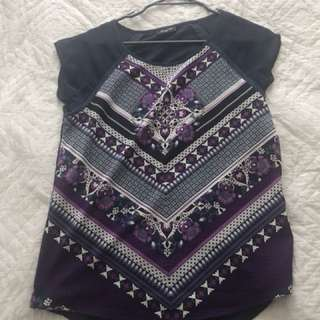 Patterned top size 6