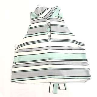 F21 Mint Green Stripped Blouse